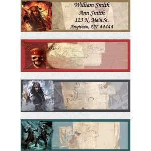 Pirates of the Caribbean Set of 150 Address Labels Office