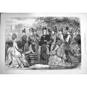 1874 Paris Spring Fashion Ladies Dresses Coats Hats