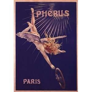 GIRL FLYING ANGEL BICYCLE BIKE CYCLES PHEBUS PARIS FRANCE