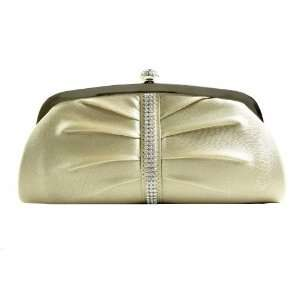 Gold Sophisticated Evening Purse   Clutch with High Quality Rhinestone