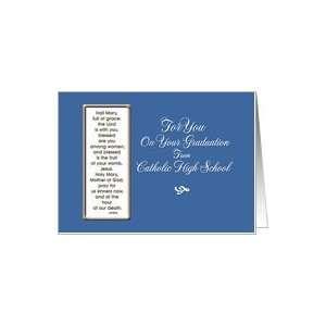 Graduation Card/High School Catholic Card Health