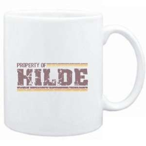 Mug White  Property of Hilde   Vintage  Female Names