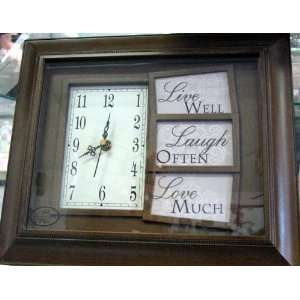 Cottage Garden Collections TD 7014 Live Laugh Love Wall Clock