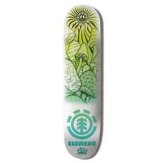 Element Skateboards   Element Green Shroom Skateboard Deck   8.25