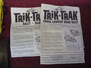 TRIANG TRIK TRAK CROSS COUNTRY ROAD RALLY GAME BOXED RARE