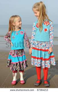 Two Cute Little Girls Holding Hands Stock Photo 67384213
