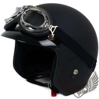 Carbon Fiber 70 Motorcycle Vespa Helmet w/ Goggle XL