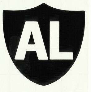 Oakland Raiders Owner Al Davis Shield Vinyl Decal/Sticker