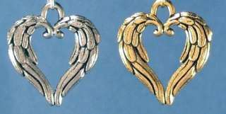 Angel Wings Hearts Pewter Charms Jewelry Making/Crafts