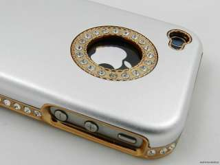 Crystal Rhinestone Case Cover for Apple iPhone 4S 4 Silver gold
