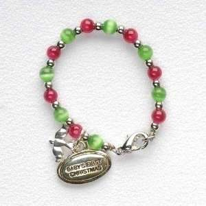 Pack of 24 Babys First Christmas Charm Bracelets