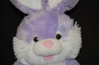 17 Plush Dan Dee Stuffed Purple Bunny Baby in Basket