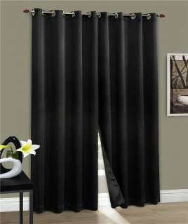 CARNIVALE 54x84 Grommet Panel Black color Blackout Curtain