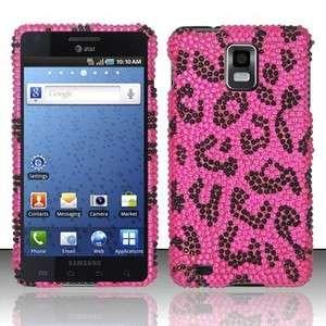 Pink Leopard BLING Hard Case Cover Samsung Infuse 4G