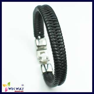 Surfer MultiWrap Wrist Braided Woven Leather Bracelet