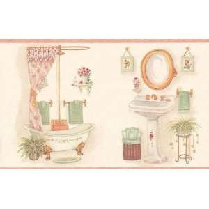 Victorian Bathroom on Wallpaper Border Victorian Vintage Looking Bathroom Border Bath