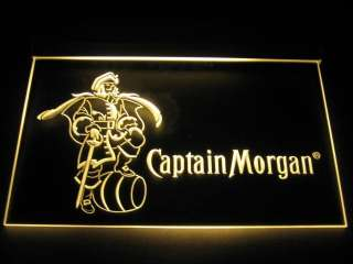 Captain Morgan Logo Beer Bar Decor Light Sign Neon B029
