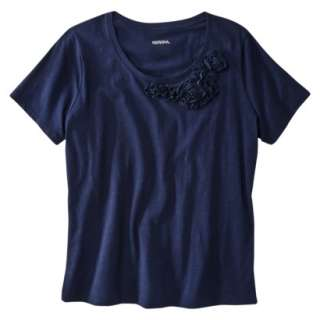 Merona® Womens Plus Size Short Sleeve Scoop Neck Embellished Tee