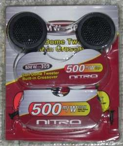 500 Watts Nitro BMW 309 Soft Dome Car Tweeters With Built in Crossover
