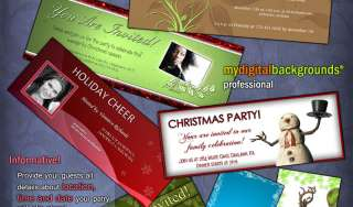 CHRISTMAS HOLIDAY CARD TEMPLATES DIGITAL BACKGROUNDS