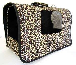 18 L Pet Carrier Dog/Cat Travel Bag Purse Case Leopard
