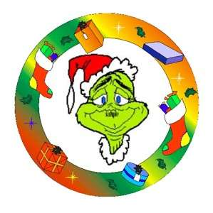 Round Edible Cake Image How Grinch Stole Christmas