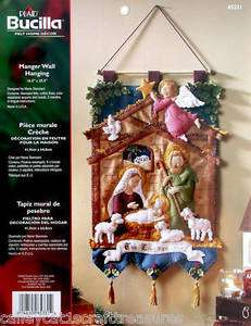 Bucilla Nativity Manger ~ Felt Christmas Wall Hanging Kit #85331 Baby