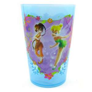 Disney Fairies Blue Clear Plastic Drinking Cup