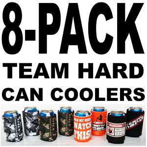 Pack Morning Wood Camo Funny Can Coolers Coolie Pinup |