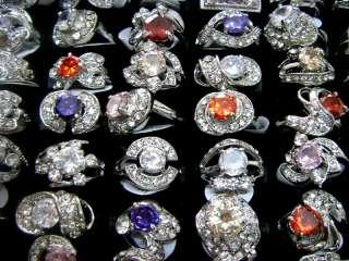 Mixed Lots 30pcs Crystal rhinestone&CZ Top Quality ring