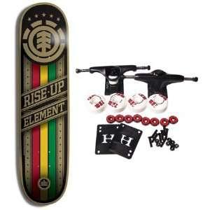 ELEMENT SKATEBOARDS Complete Skateboard RISE UP RASTA 8