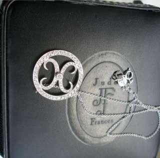 Hugs & Kisses Diamond Pendant Necklace with Jude Frances leather box