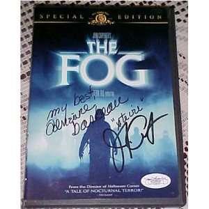 John Carpenter Adrienne Barbeau Signed THE FOG DVD JSA