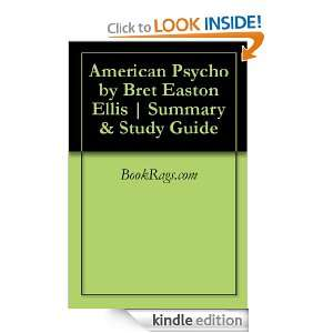 American Psycho by Bret Easton Ellis  Summary & Study Guide BookRags