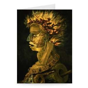 Fire, 1566 by Giuseppe Arcimboldo   Greeting Card (Pack of