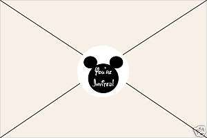 Birthday Party Invitation Envelope Seals Stickers Candy Favors