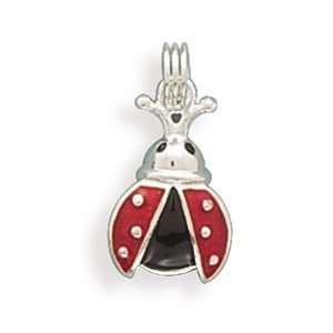 Silver Red/Black Enamel Ladybug Charm West Coast Jewelry Jewelry