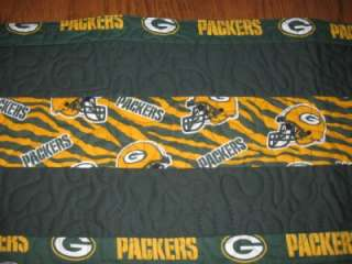 Handmade Quilted Table Dresser Runner NFL Football Green bay Packers