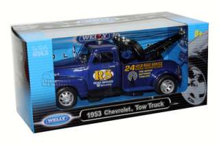 1953 CHEVY TOW TRUCK DIE CAST 1/24 24 HRS ROAD SERVICE |