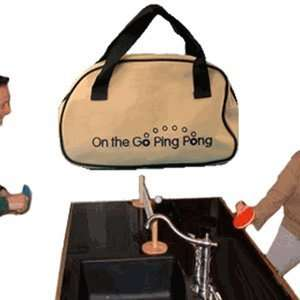 On the Go Portable Ping Pong Table Tennis Set Toys & Games