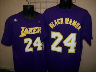 Lakers Kobe Bryant Black Mamba Jersey T Shirt sz XL