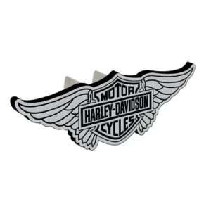 Harley Davidson® Wing Hitch Plug Cover   Brushed Finish. Solid Metal