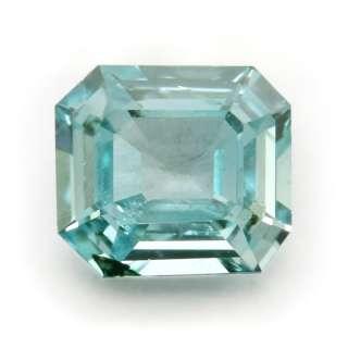 Certified Fancy Greenish Blue Loose Natural Diamond Emerald Cut