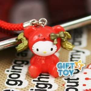 Sanrio Hello Kitty Bear Cell Phone Charm (Rad) Everything