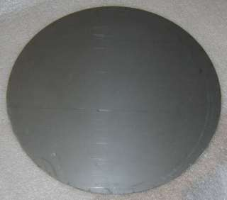 stainless steel sheet metal disc, 8.25 dia x 0.0321