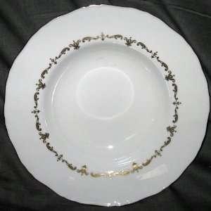 Royal Worcester Gold Chantilly Soup Bowl (Rim)