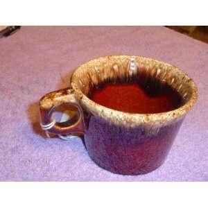 HULL 4 DIAMETER BROWN DRIP PATTERN COFFEE CUP Kitchen