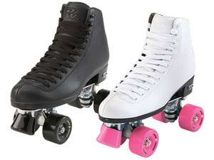 Wave Black White Mens Womens Boys Girls Kids Youth Quad Roller Skates