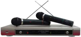 DUAL VHF WIRELESS MICROPHONES SYSTEM RECEIVERS MICS MIC 068888719124