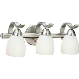 Forte Lighting Three Light Vanity Light with Satin Shade